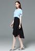 Picture of Irregular Bottom Lotus Design Chiffon Skirt