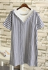Picture of Stripe Fake 2pcs Plus Size Blouse