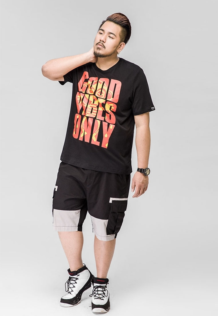 "Picture of ""Good Vibes Only"" Plus Size Mens T Shirt"