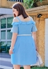 Picture of Off Shoulder Women Plus Size Dress