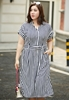 Picture of Stripe Kimono Style Plus Size Dress