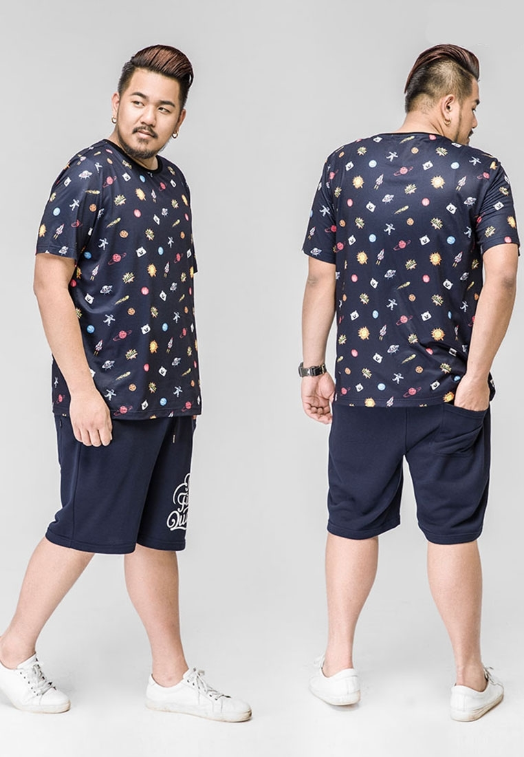 "Picture of Printed ""the finest quality"" Plus Size Shorts"