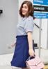 Picture of Lapel Short Sleeve Plus Size Ladies Blouse
