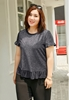Picture of Silver Fiber Short Sleeve Blouse