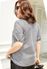 Picture of Lattice Lapel Short Sleeve Blouse
