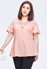Picture of Lace Shoulder Fly Sleeve Plus Size Ladies Top