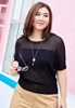 Picture of Round Collar Knitted Blouse