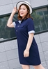 Picture of Shirt Style Plus Size Ladies Casual Dress