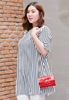 Picture of Stripe Horn Sleeve Blouse