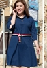 Picture of 3/4 Sleeve Shirt Style Plus Size Dress