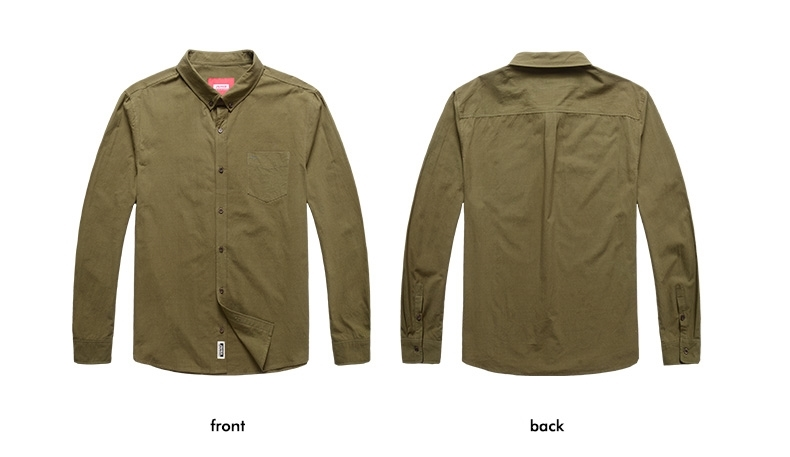 Picture of Long Sleeve Plus Size Mens Work Shirt