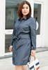 Picture of Long Sleeve Plus Size Denim Shirt Dress