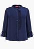 Picture of Drawstring Sleeve Plus Size OL Chiffon Shirt