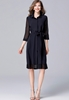 Picture of 3/4 Sleeve Big Size Shirt Dress