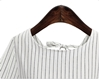 Picture of Striped Tie Back Plus Size Blouse
