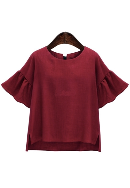 Picture of Back Ribbon Plus Size Top