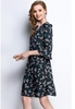 Picture of Back Tie Horn Sleeve Flower Print Dress