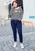 Picture of Foldable Bottom Ladies Plus Size Jeans
