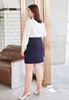 Picture of Waist Ribbon Plus Size Slim Skirt