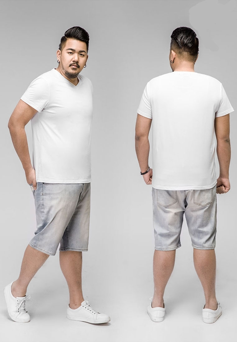 Picture of V Neck Plus Size Basic T Shirt