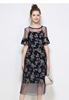 Picture of 2pcs Mesh Floral Dress