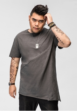 Picture of Asymmetry Bottom Men's Plus Size Tee