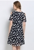 Picture of Cold Shoulder Printed Plus Size Dress