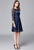 Picture of Plus Size Royal Blue Party Dress