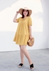 Picture of Round Neck Lotus Bottom Plus Size Dress