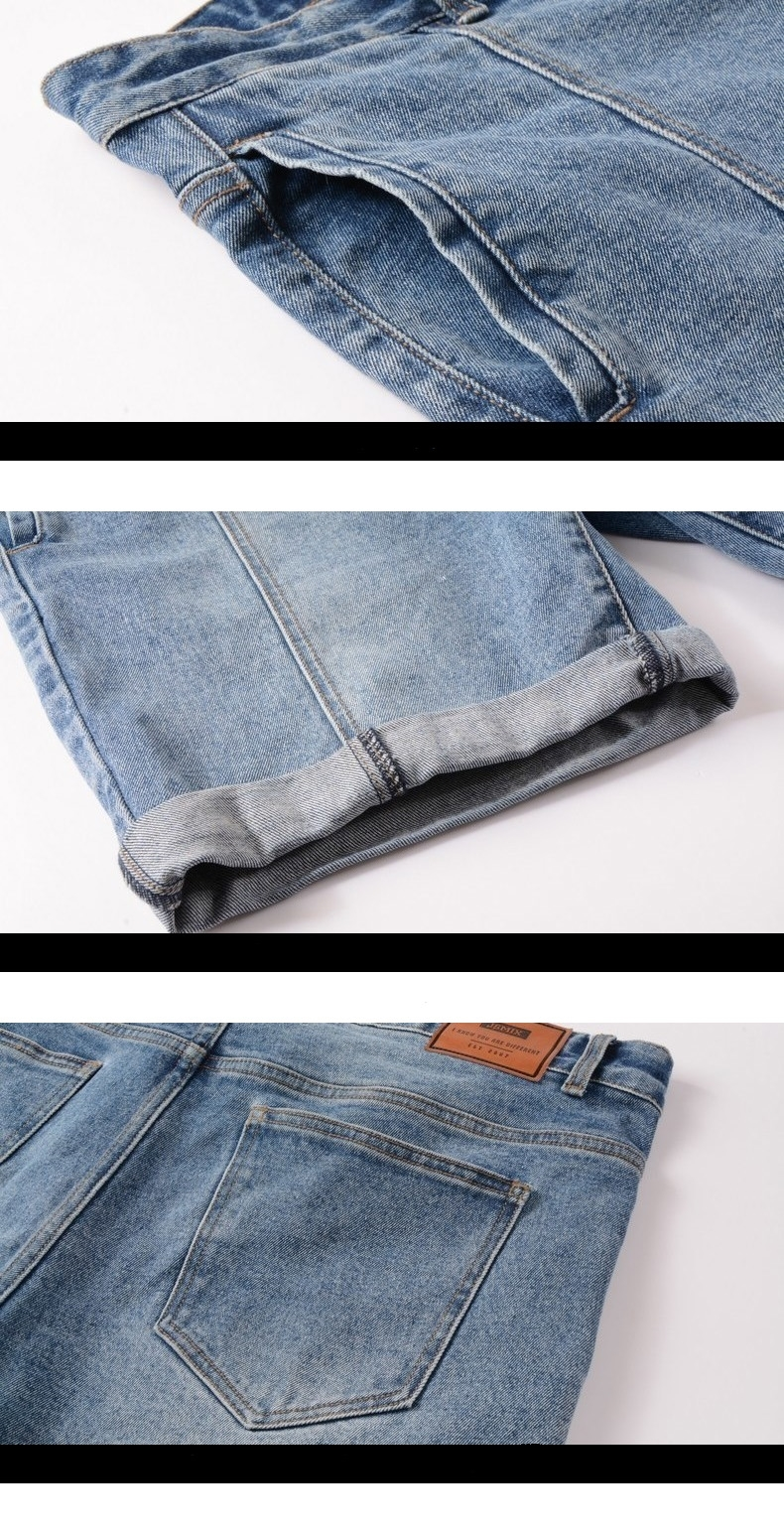 Picture of Fold-able Large Size Men's Denim Shorts