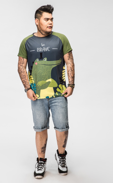 Picture of Crocodile Prints Plus Size T-Shirt