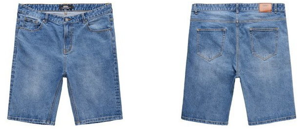 Picture of 3/4 Plus Size Men Jeans Shorts