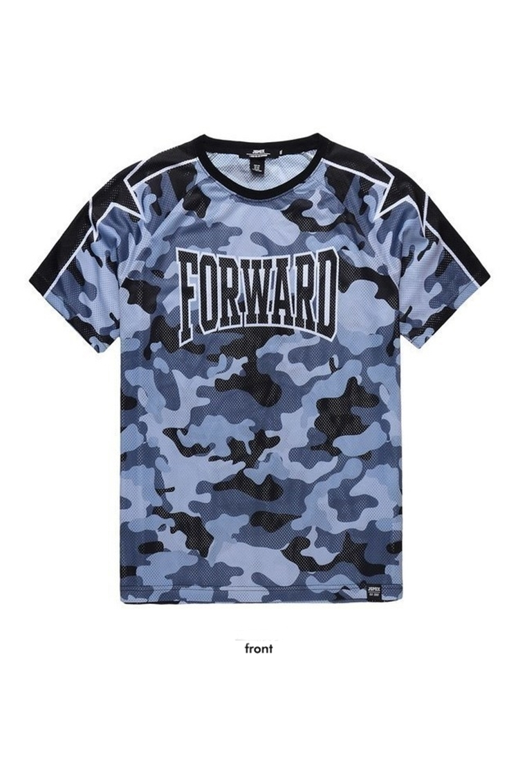 Picture of Blue Camouflage Mens Plus Size T Shirt
