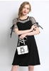 Picture of Fake 2 pcs Horn Sleeve Plus Size Dress