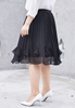 Picture of Elastic Waist Chiffon Pleated Skirt