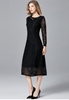 Picture of Long Sleeve Plus Size Lace Party Dress
