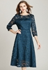 Picture of Women's 3/4 Sleeve Transparent Shoulder Party Dress