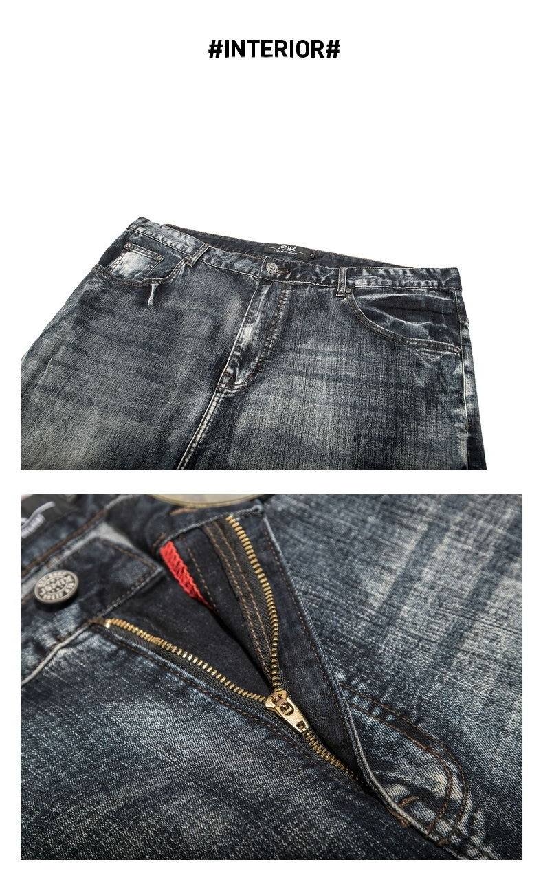 Picture of Plus Size Men's Retro Style Jeans