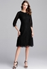 Picture of 3/4 Sleeve V Neck Plus Size Lace Dress