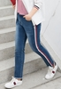 Picture of Side Stripe Fashion Plus Size Ladies Jeans