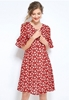 Picture of Lotus Sleeve Plus Size Floral Dress