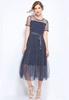 Picture of Stripe Fake 2 Pcs Plus Size Dress