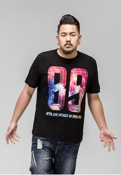 Picture of Number Print Plus Size Men's T Shirt
