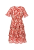 Picture of Floral Plus Size Short Sleeve Dress