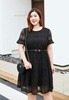 Picture of Short Sleeve Lattice Plus Size Dress