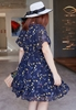 Picture of V Neck Plus Size Floral Dress