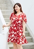 Picture of Fly Sleeve Floral Plus Size Dress