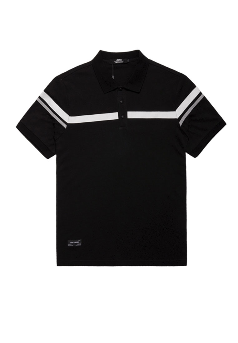 Picture of Striped Sleeve Plus Size Men's POLO Shirt