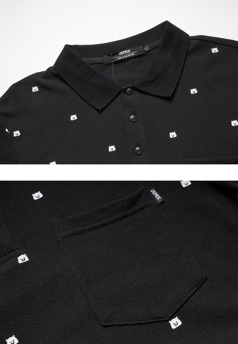 Picture of Bear Print Plus Size Men's POLO