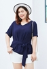 Picture of Waist Ribbon Plus Size Blouse